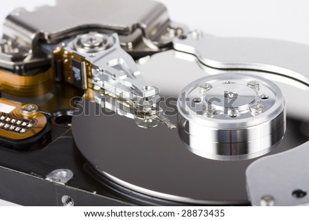 Hard disc drive inside details