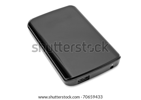 hard disc on white background - stock photo