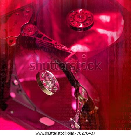 hard disk - stock photo