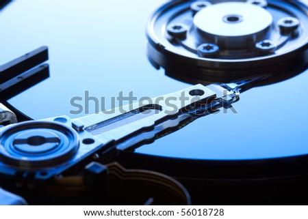 hard disk drive detail - stock photo