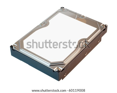 Hard disk drive. HDD. Isolated on white background with clipping path. - stock photo