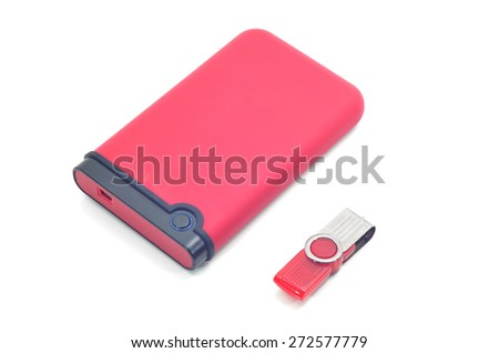 hard disk isolated on a white background  - stock photo