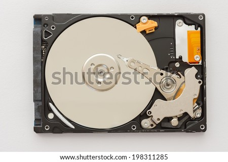 hard disk 2.5 notebook on white background