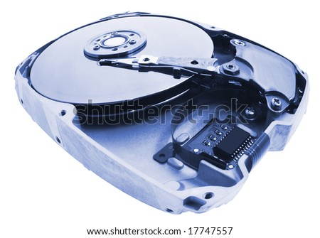 Hard Disk on Isolated White Background