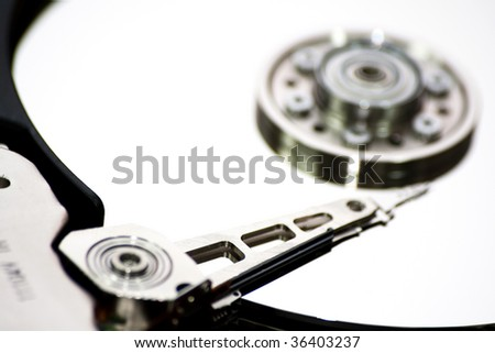 hard drive detail - stock photo