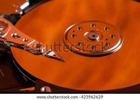 hard drive hdd digital multimedia information electronics - stock photo