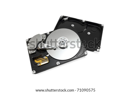 hard drive isolated on white background