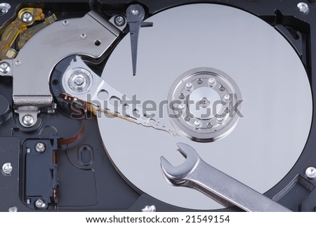 Hard drive maintenance with wrench