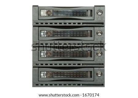 Hard drive racks - stock photo