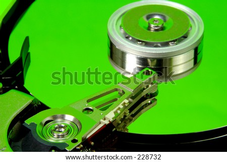 Hard Drive With Green Tones.  See Portfolio For Similar Concepts.
