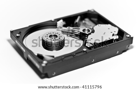 Hard drive with headcrash