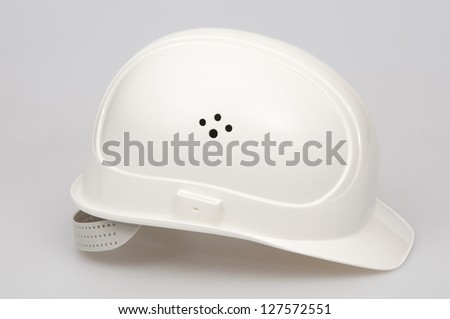 Hard hat for a construction worker. - stock photo