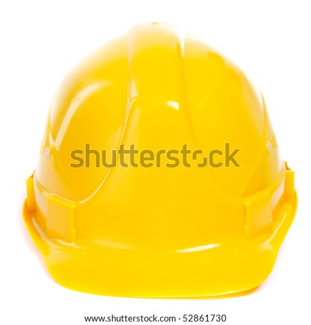 Hard Hat. Isoalted on white. - stock photo