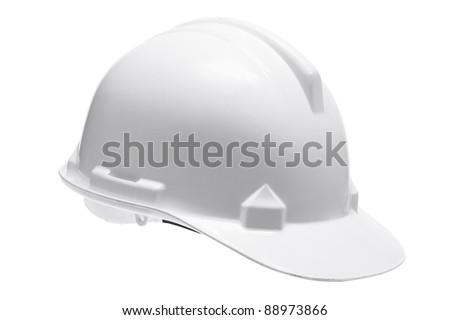 Hard Hat on White Background - stock photo