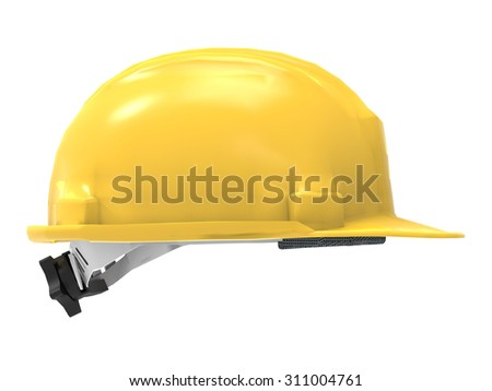 hard hat side view