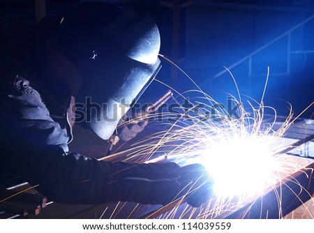 Hard job. Construction and manufacturing - stock photo
