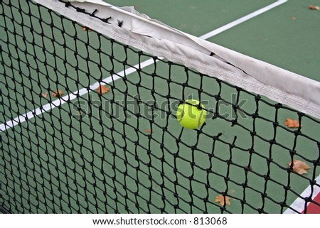 Hard Serve - stock photo