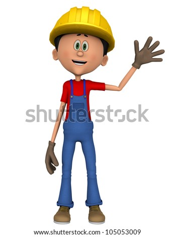 hard worker hello - stock photo