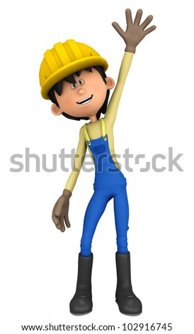 hard worker hey I am here - stock photo