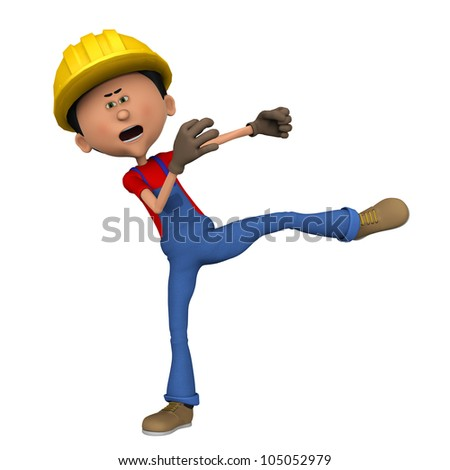 hard worker roundhouse - stock photo