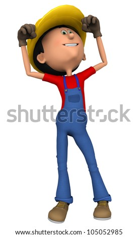 hard worker victory dance - stock photo