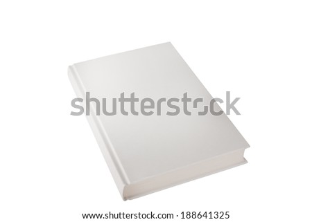 hardback book closed on white - stock photo
