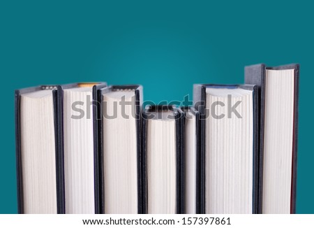 Hardcover Books - stock photo