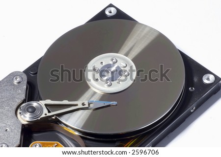 Harddisk with reflection