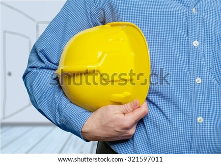 Hardhat. - stock photo