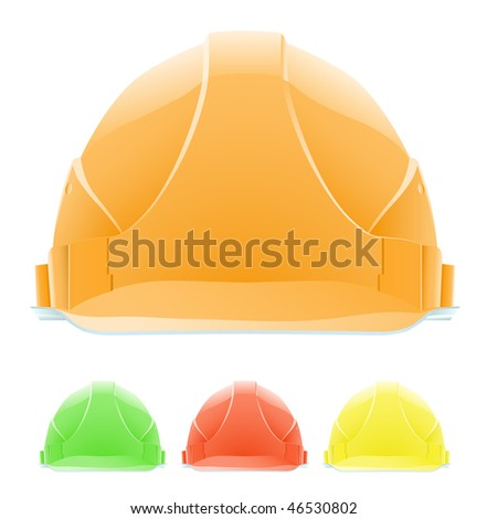 Hardhat in Different Colours - stock photo