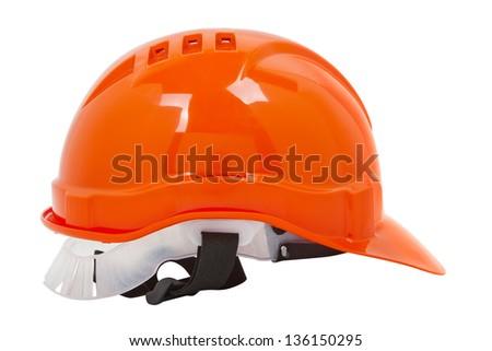 hardhat isolated on white - stock photo