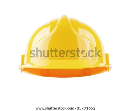 Hardhat isolated with clipping path so you can put your own character in - stock photo