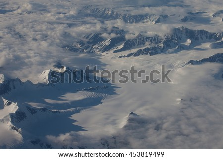 Harding Ice Field Alaska Seward from a Plane