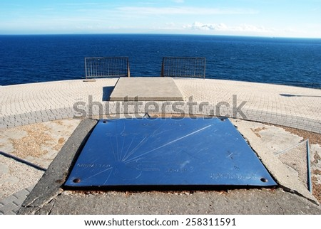 Hardings Battery Observation Post looking out to the Mediterranean sea at Europa Point, Gibraltar, United Kingdom, Western Europe. - stock photo