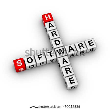 hardware and software store sign - stock photo