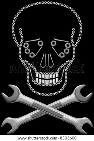 Hardware Skull and Crossbones - stock photo