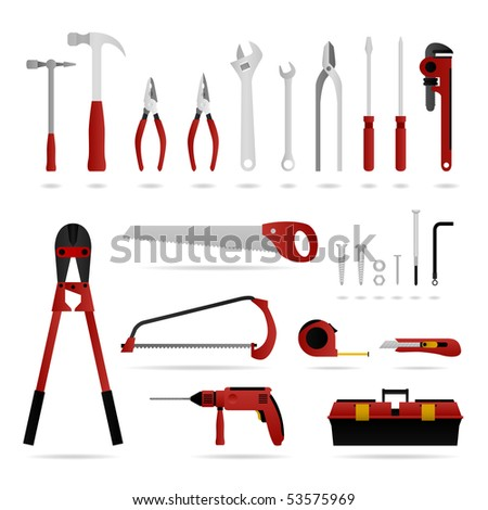 Hardware Tool Set Raster - stock photo