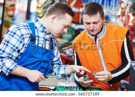 Hardwarer store worker or buyer - stock photo