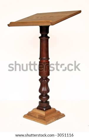 Hardwood lectern made from mahogany and oak
