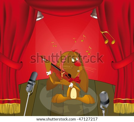 hare the musician appearing on stage - stock photo