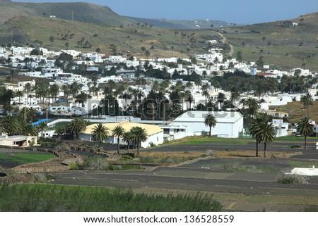 Haria, Lanzarote, Canary Islands, Spain - stock photo