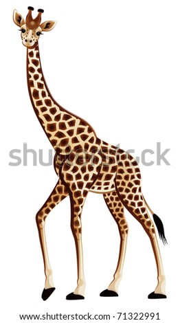 Harmonic giraffe on a white background