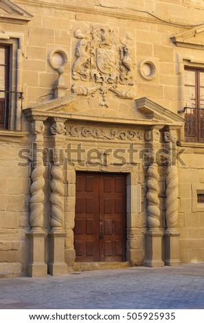 HARO, SPAIN - AUGUST 5, 2016: Palacio de los Condes de Haro in Haro, capital of La Rioja region of Spain.