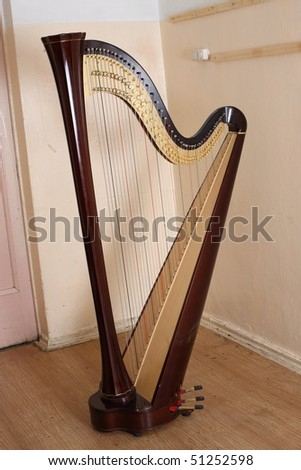 Harp on a light background - stock photo