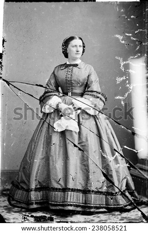 Harriet Lane, niece of James Buchanan; acted as First Lady during his term as President. ca. 1855-1865.