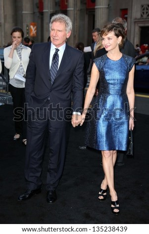 "Harrison Ford and Calista Flockhart at the ""42"" Los Angeles Premiere, Chinese Theater, Hollywood, CA 04-09-13"