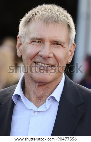 """Harrison Ford arrives for the premiere of """"Cowboys and Aliens"""" at the 02 cineworld cinema, London. 11/08/2011 Picture by: Steve Vas / Featureflash - stock photo"""