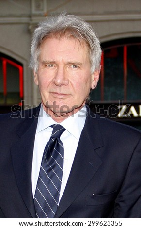 """Harrison Ford at the """"42"""" Los Angeles Premiere at TCL Chinese Theater on April 9, 2013 in Hollywood, California.   - stock photo"""