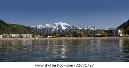 Harrison Hot Springs, British Columbia, Canada - stock photo