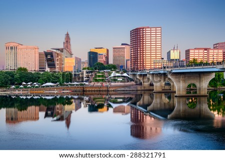 Hartford, Connecticut, USA downtown skyline. - stock photo